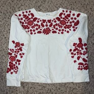 Sz S Embroidered Sweater